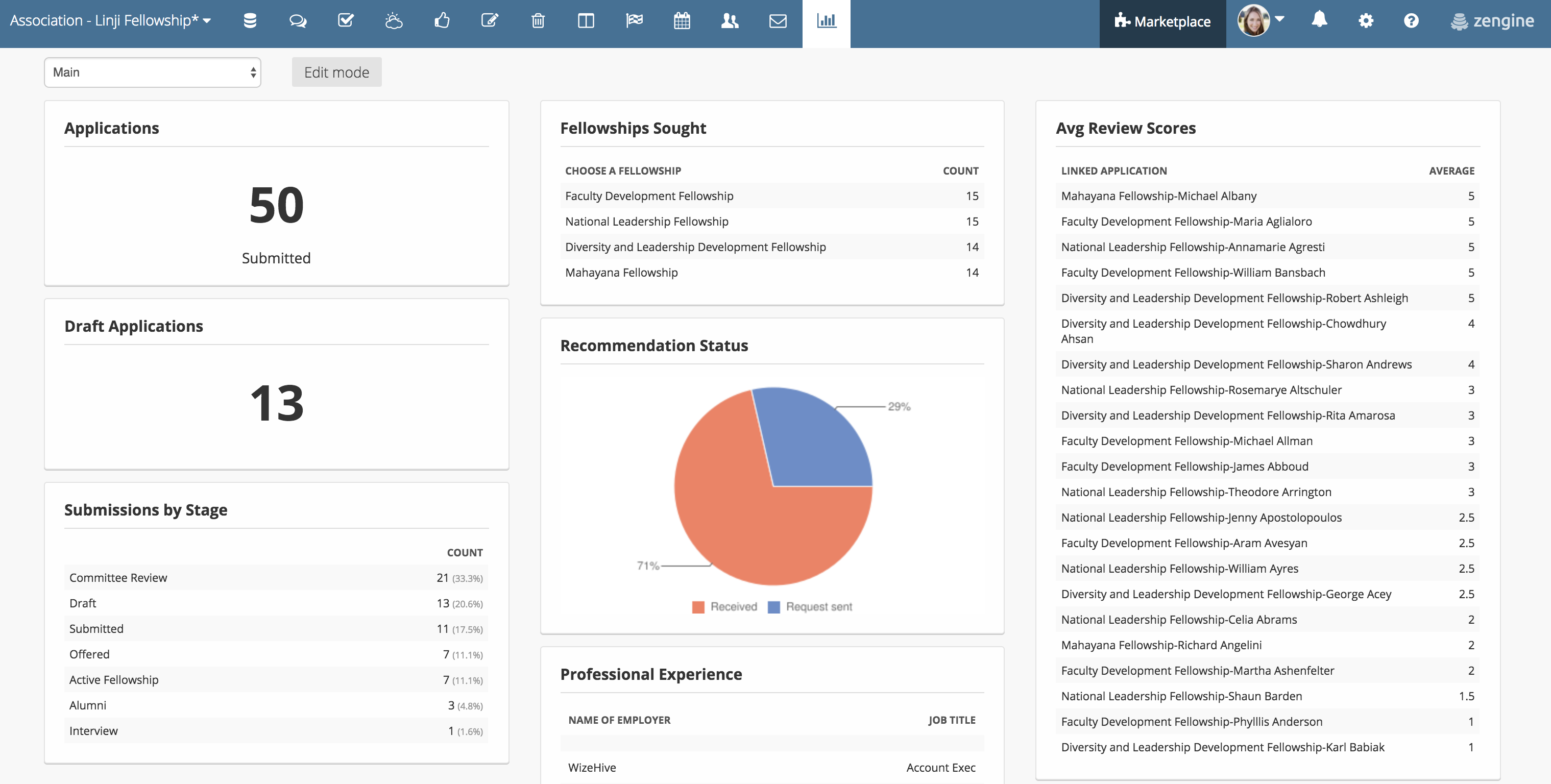 Intern Dashboard