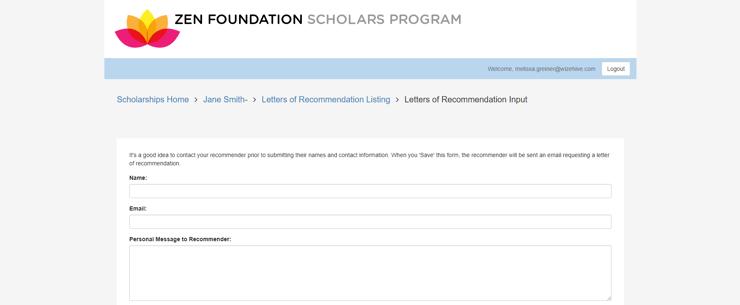 Scholarship LOR