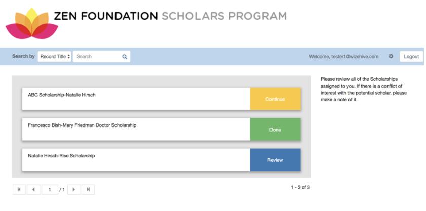Scholarship Review Portal