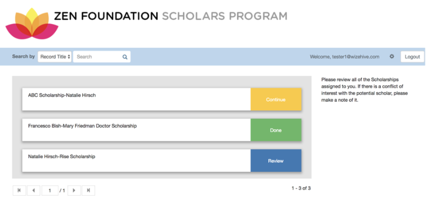 Scholarship Review Portal