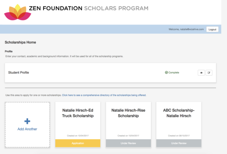 Scholarship Submission Portal
