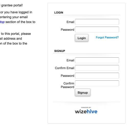 Optional login for applicants